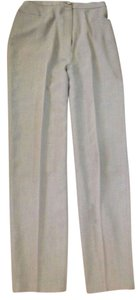 Eileen Fisher Lt. Weight Wool Made In Usa Trouser Pants Pale Green