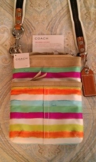 Coach Tote in Pastel/Stripes