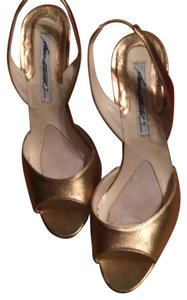 Brian Atwood Gold leather Pumps