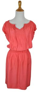 Talbots short dress coral #silkdress #petites #petitedress #newsilkdress on Tradesy