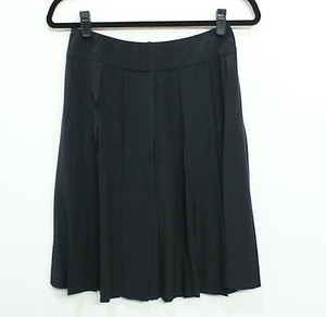 Chanel Silk Pleated With Fly Away Skirt Black