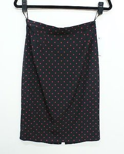 Dolce&Gabbana Black Silk With Red Polka Dots Or Skirt Multi-Color
