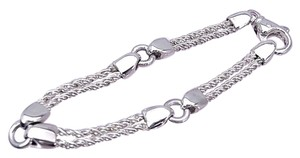 Tiffany & Co. Authentic Tiffany & Co. Sterling Silver Double Rope Chain Bracelet
