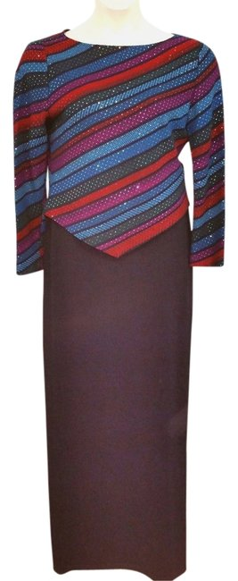 Item - Multi-color Evening By Marie Gray Cocktail Skirt Suit Size 8 (M)