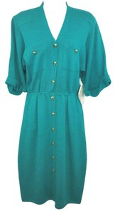 St. John short dress GREEN Saks Vintage Knit on Tradesy