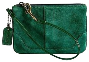 Coach Wristlet in Forest Green