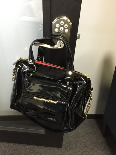 Elane Turner Satchel in Black Pantent