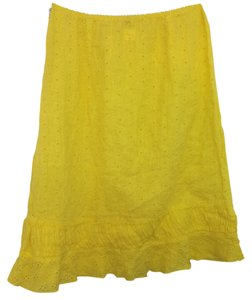 Other 120% Lino Linen Skirt YELLOW
