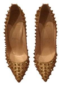 Christian Louboutin Gold with spikes Pumps