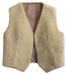 Boho Winter White Sheepskin Vest