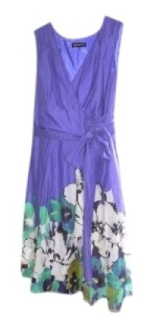 Preload https://item2.tradesy.com/images/jones-new-york-purple-wrap-style-bodice-tie-sash-flowered-skirt-knee-length-short-casual-dress-size--129516-0-0.jpg?width=400&height=650