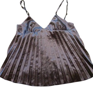 DENNY ROSE Sleeveless Lace Polyester Imported Top blue