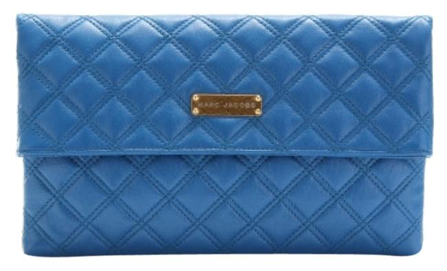 Item - Large Eugenie Quilted Blue Leather Clutch