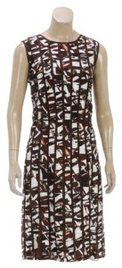 Oscar de la Renta short dress Brown/Cream on Tradesy