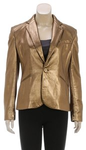 Ralph Lauren Gold Leather Jacket