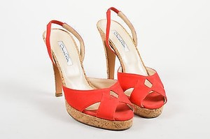 Oscar de la Renta Canvas Red Sandals