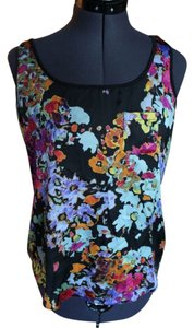 Nordstrom Floral Top Black