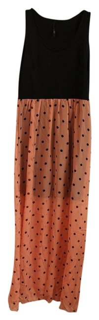 Black and Pink Maxi Dress by Nordstrom Polka Dot