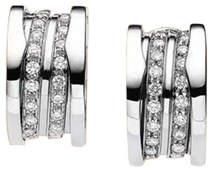 BVLGARI Bulgari 18K White Gold Full Diamond Earrings