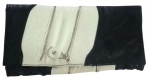 Other Two Tone Black & White Clutch