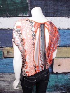 Sam & Lavi Anthropologie Top Orange