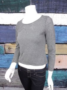 Anthropologie Knitted Knotted Textured Crop Petite Sp Sweater