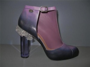 Chanel 12a Runway Bootie Purple Boots