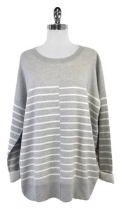 Vince Grey White Double Faced Sweatshirt