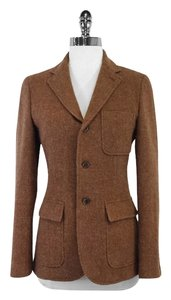 Ralph Lauren Brown Wool Alpaca Jacket