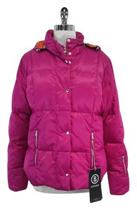 Bogner Hot Pink Hooded Down Ski Jacket