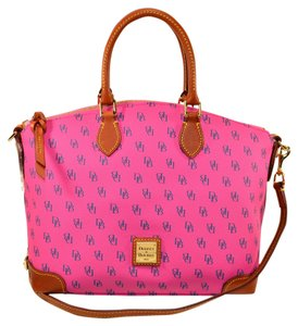 Dooney & Bourke Signature Gretta Satchel in Fuchsia