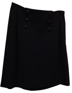 Banana Republic 6 Button Skirt Black