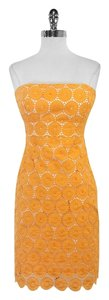 Shoshanna short dress Orange Eyelet Cut Out on Tradesy