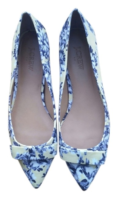 Item - Yellow Printed Amelia with Bow- Style B9176 Flats Size US 9 Regular (M, B)