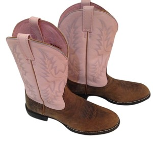 Ariat Pink and brown leather Boots