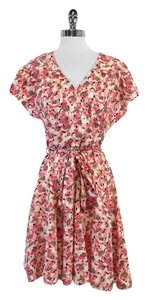 Juicy Couture short dress Pink Floral Cap Sleeve on Tradesy