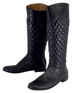 Corso Como Black Quilted Leather Boots