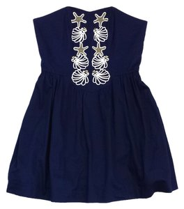 Lilly Pulitzer short dress Navy Shell Embroidered on Tradesy