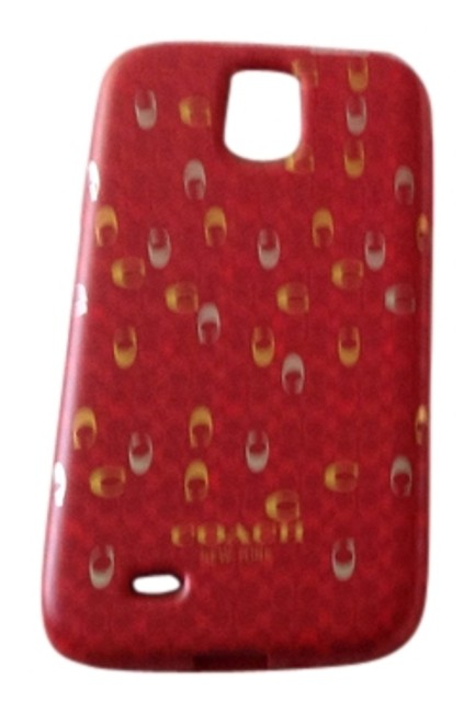 Item - Red (Gold/Silver Writing) Phone Case Cover Samsung Galaxy S4 Tech Accessory
