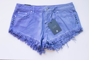 Nasty Gal Dipper Short Cut Off Shorts Blue Yonder
