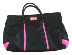 Izod Book Computer Travel Florecent Tote in black / pink