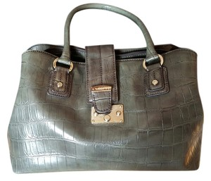 Liz Claiborne Vintage Alligator Satchel in Rustic Green