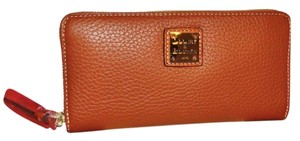 Dooney & Bourke Pebble Leather Large Zip Around Wallet