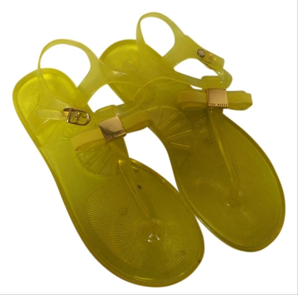 Ted Baker Jelly Neon Yellow Sandals   Sandals on Sale