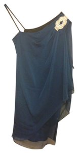 Xscape Polyester Rhinestones Dryclean Only Capelet Gemstone Dress