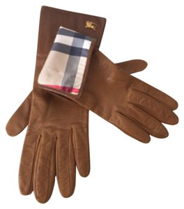 Burberry Burberry Long degrade lambskin leather gloves