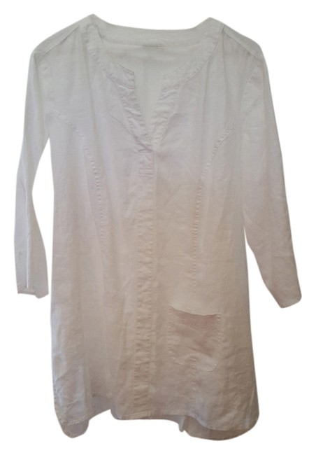 Item - White Linen Summer Spring Casual Tunic Size 20 (Plus 1x)