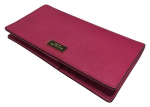 Kate Spade Kate Spade New York Newbury Lane Stacy Sweetheart Pink Clutch Wallet Saffiano WLRU1601
