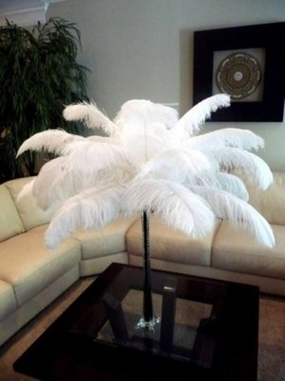 Ostrich Feathers Centerpiece