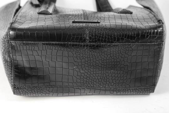 Vince Camuto Crocodile Print Synthetic Double Handle Tote in Black Image 4